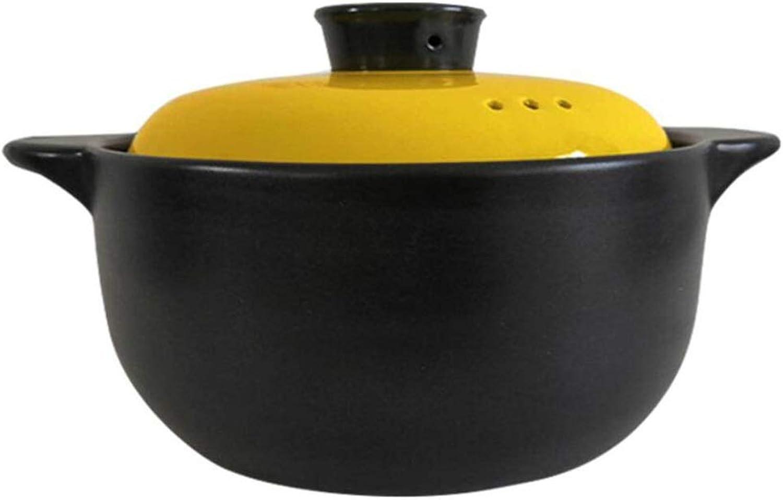 Todos los productos obtienen hasta un 34% de descuento. QZZ Cazuela Cocina Cocina Cocina Hogar Cerámica Gachas Sopa Pequeña Olla De Alta Temperatura Fuego Fuego Almeja Olla Sopa De Arroz Olla Negro (Tamaño   2L)  suministro de productos de calidad
