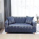 WXQY Funda de sofá elástica geométrica, Funda de protección para Mascotas para Sala de Estar, Funda de sofá Todo Incluido de Esquina en Forma de L A12 3 plazas