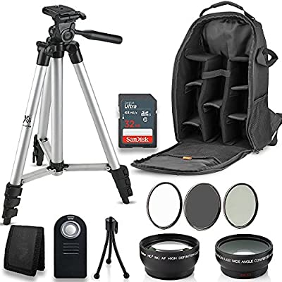 Professional 52MM Accessory Bundle Kit for Nikon D3300 D3200 D3100 D5000 D5100 D5200 D5300 D5500 D7000 D7100 D7200 & DSLR Cameras, 12 Accessories for Nikon from Deals Number One