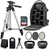 Professional 52MM Accessory Bundle Kit for Nikon D3300 D3200 D3100 D5000 D5100 D5200 D5300 D5500 D7000 D7100 D7200 & DSLR Cameras, 12 Accessories for Nikon