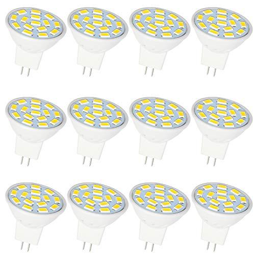 Jenyolon MR11 GU4 LED Lampen neutralweiß 2.5W, 12V, 4000K, 300Lm, Ersatz für 20-25W Halogenlampen Glühlampen, GU4 MR11 LED Leuchtmittel Birne Spot Licht, 120°Abstrahlwinkel, 12er Pack