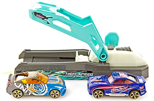 Unbekannt Autos Modell-Autos Auto-Set Abschussrampe Kinder-Spielzeug Turbo Shooter Renn-Bahn Auto-Renn-Bahn Leuchtend