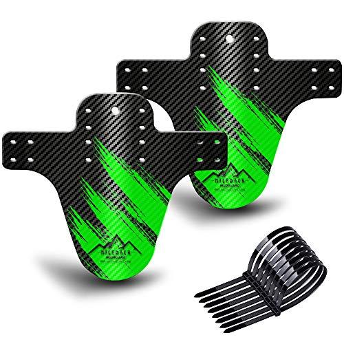 NICEDACK Schutzbleche Mountainbike,Mountainbike Spritzschutz, MTB Vordere und hintere kompatible Mudguard, Fahrrad zubehör MTB Mud Guard fit 20 26 27 27.5