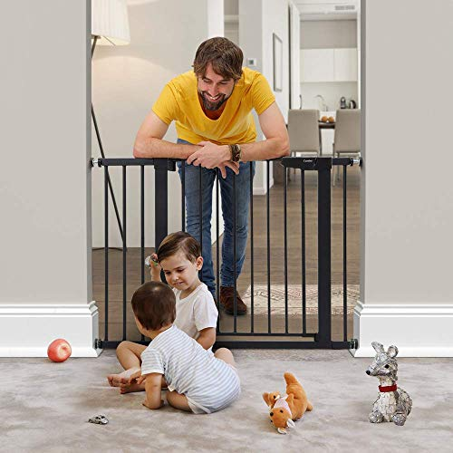 Baybee Auto Close Safety Baby Gate Auto Close Safety Baby Gate, Extra Tall and Wide Child Gate, Easy Walk Thru Durability Dog Gate for The House,... 5