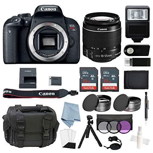 Bundle for Canon EOS Rebel T7i Bundle with EF-S 18-55mm f/4-5.6 is STM Lens...