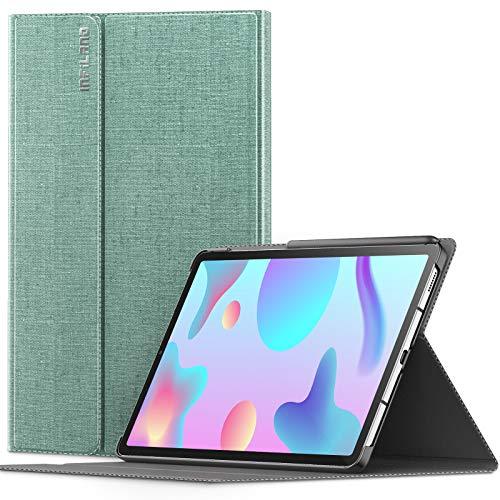INFILAND Hülle für Samsung Galaxy Tab S6 Lite, Ultraleicht Halten Schutzhülle Hülle mit Auto Schlaf/Wach Funktion für Samsung Galaxy Tab S6 Lite 10.4 Zoll (SM-P615/P610) 2020,Minzgrün