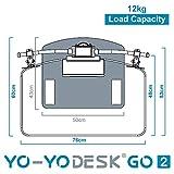 Yo-Yo DESK GO 2 (SCHWARZ) | Meistverkaufter Höhenverstellbarer Schreibtisch Mit Integrierter Säule Und Dual Monitorhalterung Für Benutzer über 180 cm | Integrierte Kabel- und Stiftbox - 6