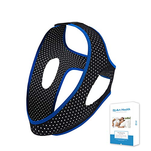 CPAP Chin Strap, Chin Straps for CPAP Users - Effective Stop Snoring Solution, Comfortable Snore Stopper (Blue & Mesh Black)