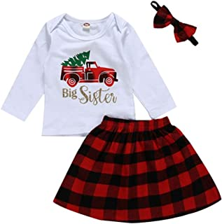 Sherine Casual Fashion Sweet and Lovely Round Neck Long Sleeve Cars Letters Printing T-Shirt Skirts Sets for Baby Girl