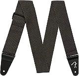 Fender 099-1447-406 Bracelet en tweed moderne, 2', gris/noir