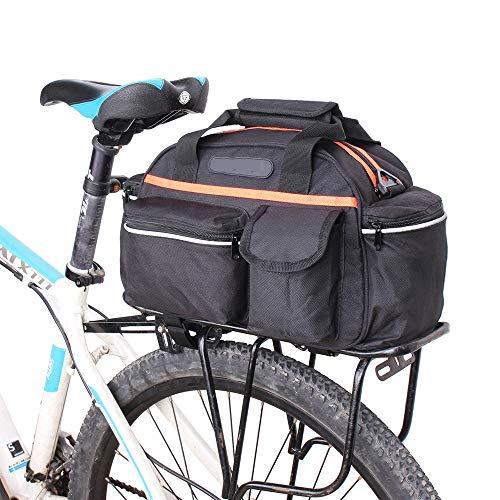 WY-AYNG Fahrradtasche Mountainbike-Tasche Fahrradsitzsitz, Handtasche Schulter Messenger Bag,Black,40 * 18 * 21.5cm