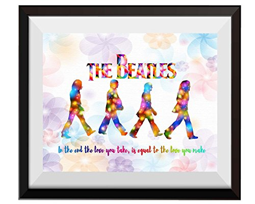 Uhomate The Beatles Poster Beatles Art Beatles Wall Decor Home Canvas Prints Wall Art Anniversary Gifts Baby Gift Inspirational Quotes Wall Decor Living Room Bedroom Bathroom Artwork C093 (18X24)