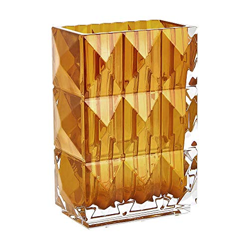 Baccarat Louxor - Jarrón de Cristal, Color ámbar