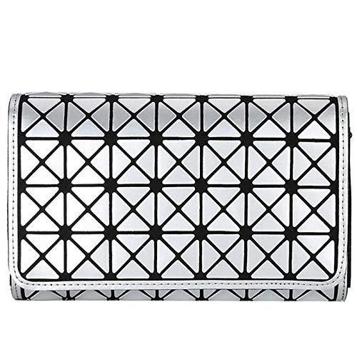 MIC-moonjack Rhombic Chain Bag Zipper Ladies Bolso De Noche Clutch Mujer Fiesta...