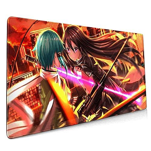 SDUYTEG Alfombrilla de ratón para juegos grandes, diseño de espada japonesa, ideal para el trabajo, juegos, oficina y hogar.