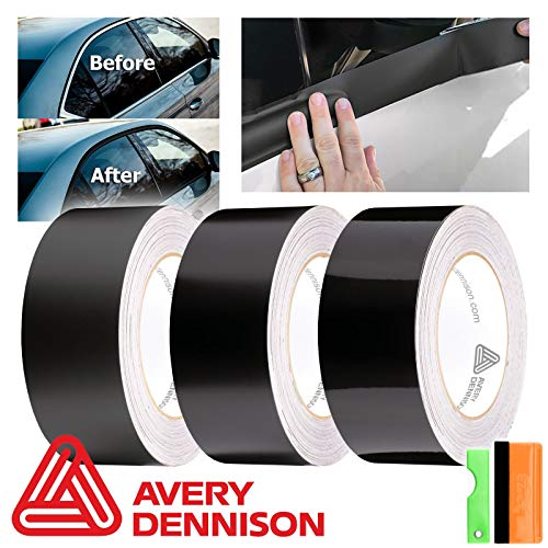 EZAUTOWRAP Free Tool Kit Avery Dennison Gloss Black Vinyl Wrap Kit for Black Out Chrome Delete Window Trim Door Trim 2