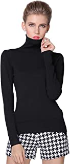 VJGOAL Mujeres Otoño E Invierno Moda Casual Color sólido Suave y cómodo Clásico Salvaje Salvaje Jersey de Cuello Alto suéter
