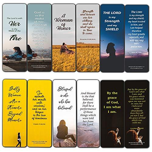 Popular Bible Verses for Women Bookmarks KJV (30-Pack) - Great Collections of KJV Bible Verses