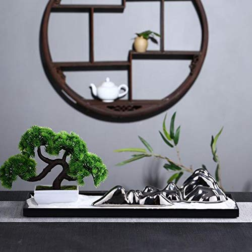 Zen garden with Chinese ornaments