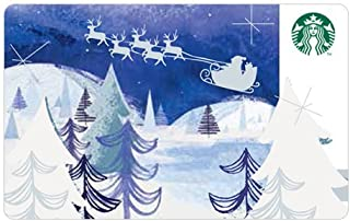 Starbucks Holidays 2016 Christmas Limited Edition New Collectible Gift Cards Santa With Sleigh