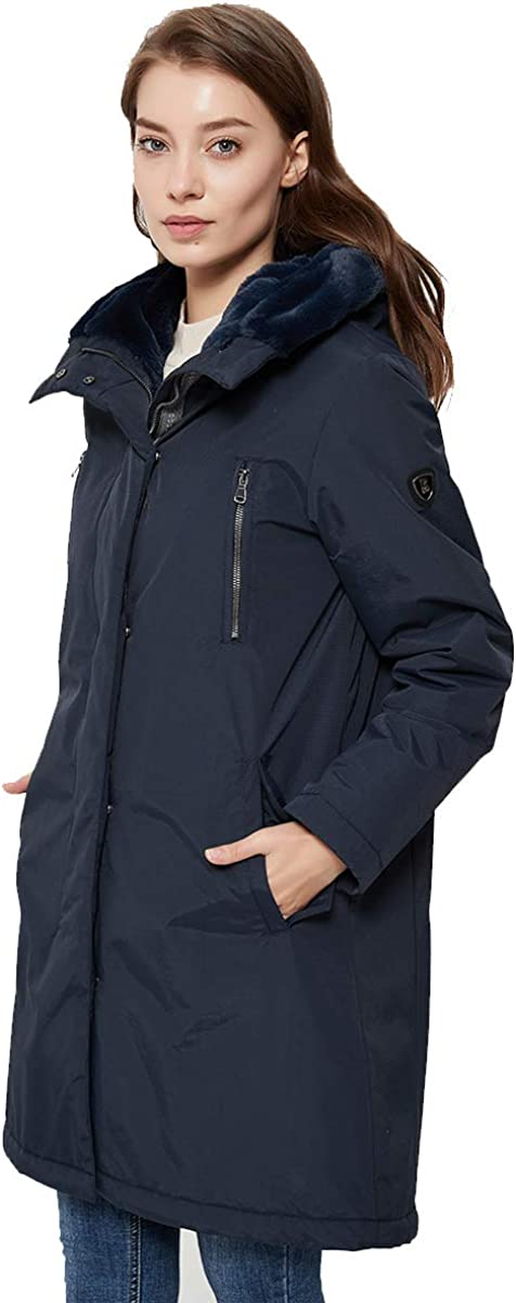 Faux Fur Hood Waterproof Hooded Jacket Rageman Women Paraka Winter Coat