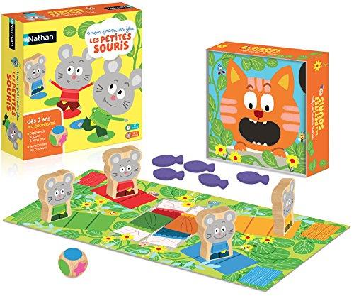 Nathan - Mon premier jeu les petites souris - Jeu coopératif et apprentissage des couleurs dès 2 ans