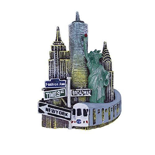 UmerBee Refrigerator Magnets NYC Manhattan Fifth Avenue 3D Resin Fridge Magnet Travel Tourist Souvenir Gift Home Kitchen Fridge Decor