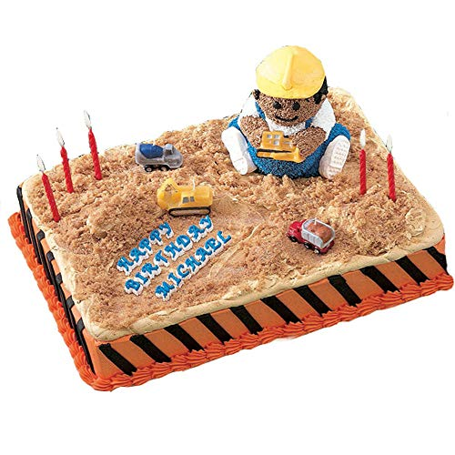LolliZ Birthday Candles Construction Equipment Theme Fun Pack of 4 Bright Colors
