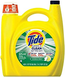 Tide 89135 Simply Clean & Fresh Liquid Laundry Detergent, 138 Oz (Pack Of 2)