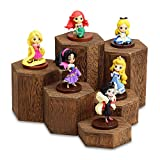 Mooca Wooden 6 Pcs Hexagon Risers for Display Jewelry and Accessories Display Stand, Woode...