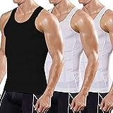 Men's 3 Pack Body Shaper Vest Slimming Compression Shirt Undershirt Abs Abdomen Slim Tank Top