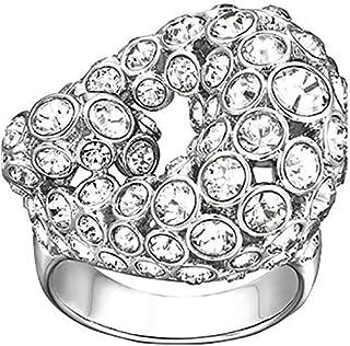 Swarovski Rarely Rhodium Plated Crystal Fashion Ring - Size 18.15 mm