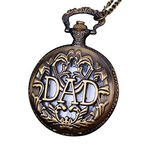 LXZSP Vintage Pocket Watch Chain Retro The Greatest Necklace for Grandpa Dad Gifts Sweater chain, birthday gift