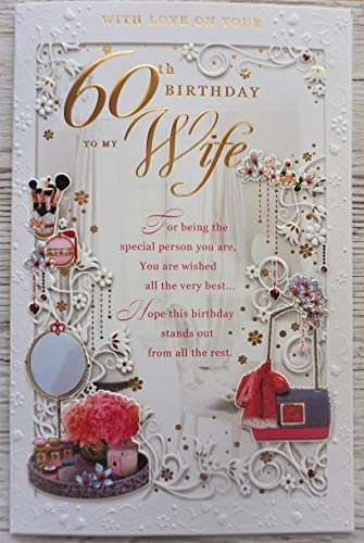 Queenie Cards With love on your 60th Birthday to my wife