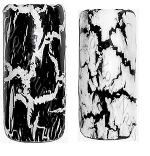 Set je 4,5ml Crackle Nagellack schwarz & weiß reißender Crack Nagellack made in Germany (Set je 4,5ml)