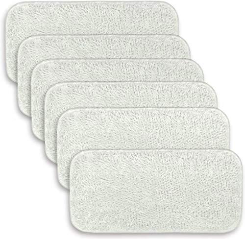 FBSHOP(TM) 6 Stück Wischpads aus Mikrofaser für Dampfreiniger Sienna Luna Head SSM-3006 waschbare Reinigungs-Ersatz-Pads für Boden