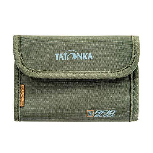 Tatonka Unisex– Erwachsene Geldbeutel Money Box RFID B, Olive, 9 x 13 x 1 cm