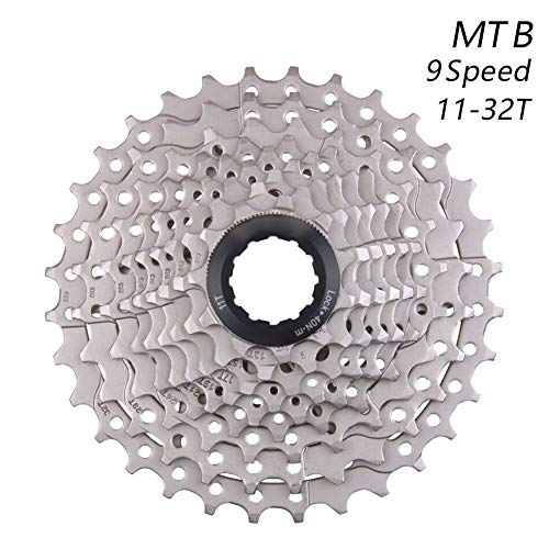 HIGHER MEN MTB de la Bicicleta de Rueda Libre 9S 11-32T 9 Velocidad de Bicicletas de montaña Cassette del Volante Compatible for Piezas Shimano M370 M390 M4000 (Color : 9S MTB 11 32T)