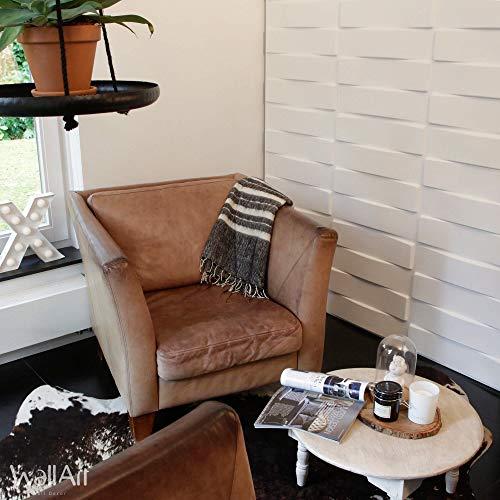 Panel de pared 3D para decoración de pared + Pegamento Paneles 3D I 12 Paneles Decorativos 3m2 WallArt I Papel Pintado 3D Pared 3D (03 - Panel de pared 3D Vaults)