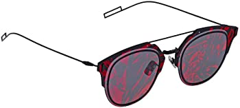 Dior Composit Grey with Violet Flash MIrror Pattern Round Unisex Sunglasses