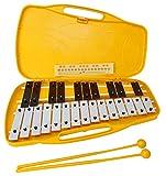 Glockenspiel carrillon metalofono xilofono DEEP KB13-1 cromático, 25 teclas con estuche y...