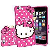 Dgeot® Hello Kitty Back Case Cover Compatible with Apple iPhone 6 Plus