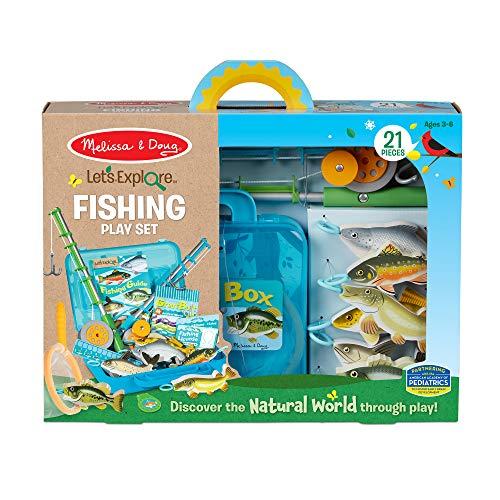 Melissa & Doug Let's Explore - Set da Pesca per Far Finta di Giocare, 3+, Regalo per Ragazzo o Ragazza