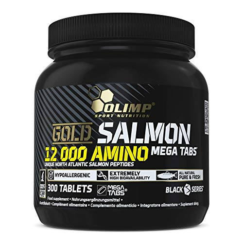 Olimp Labs Gold Salmon 12000 Amino Tablets, Pack of 300 Mega Tablets