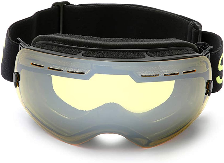 Large Spherical Mirror Ski Goggles Riding Goggles Windproof Can Card Myopia Glasses Ski Goggles Single Layer