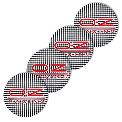 FNBA 4 Piezas 56mm OZ Logo de Carreras Cubierta del Centro de la Rueda Personalidad Creativa Cubierta de la Rueda Insignia Accesorios de Estilo de Coche