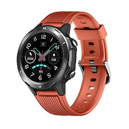 Reloj Deportivo de Alta Gama de Negocios smartwatch Ritmo cardíaco Impermeable de Salud transfronteriza Reloj Deportivo Inteligente Naranja.