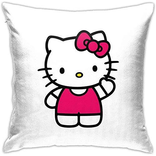 Fundas de cojín Hello Kitty Classic Image-Square Shape Funda de cojín Decorativa para sofá Sofá Juego de Almohadas