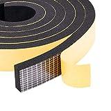 クッションテープ 防音 防水 静音テープ 気密防水パッキン 冷暖房効率アップ 25mm (幅) x 10mm (厚さ) x 2m (長さ) x 2本