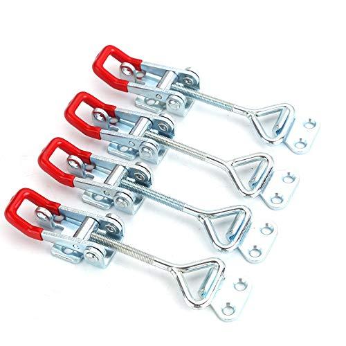 BALLSHOP 4 Stück Spannverschluss Edelstahl Eckbefestigung Kistenverschluss Hebelverschluss Kappenschloss